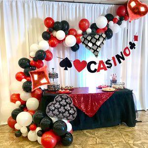 Casino Tema Balon kemer Casino Dekorasyon Parti Poker Las Vegas Dekorasyon Anniversare adulte Doğum Parti Süsleri Yetişkin T200104