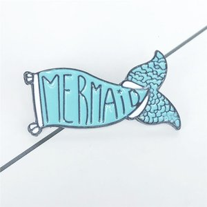 Originalità Popolare Badge mer domestica Più domestica Blue Fish Tail Spilla Girl Accessori Student