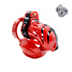 resin male chastity cage penis cock cages bondage torture restraints device pleasure sex toys for men red-black clear XCXA390-BD