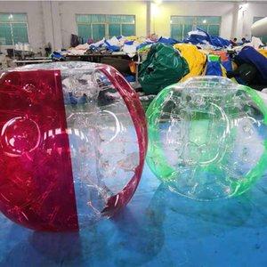 어린이 야외 놀이 축구 축구 게임 1.2M PVC의 저렴한 범퍼 볼 풍선 공 다채로운 투명 인간 풍선 범퍼 버블 볼