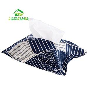 JiangChaoBo algodón lino y del viento Conjuntos de tejidos Tissue Paper Bag Bolsa de coches de tela caja de bombeo caja del paquete