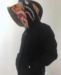 가을 겨울 새로운 연인 캐주얼 소매 카모 더블 캡 플러스 벨벳 스웨터 남성 캐주얼 전체 지퍼 블랙 카모 스플 라이스 후드