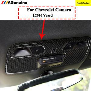 Reale in fibra di carbonio del tetto interruttore della lampada della luce interna sagomate pagina della copertura Automotive Interior Sticker Trim Per Camaro