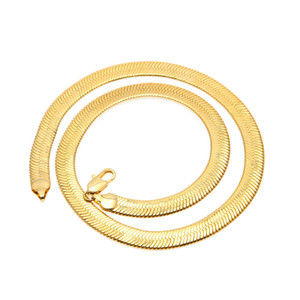 Europa und Amerika flache Schlangenknochen Kette Kupferkette kurze Schlüsselbein Klinge Kette Hip Hop Halskette