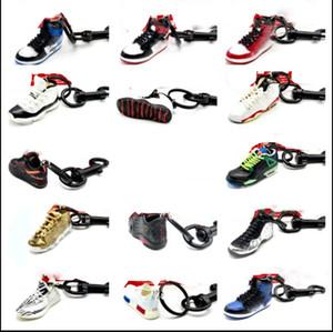 2019 Scarpe moda Sport Portachiavi chiavi catena chiave della vettura Carino basket pendente del sacchetto regalo fai da te 3 d coppie creative calza stampo