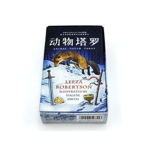 Board Game animal Totem Tarot adivinhação cartão de papel de alta qualidade Cartões Chinês / Inglês Edition para Astrólogo