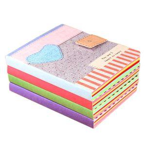 Sveglio variopinto Cuore Notebook rigida scrittura La Diario ufficiale Memo Notepad colore a caso duro Quaderno 12pcs / lot