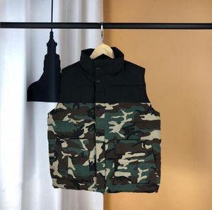 Homm 파카 남성 디자이너 조끼 겨울 남성 다운 조끼 패턴 두꺼운 브랜드 자켓 겨울 민소매 지퍼 파카 1-1 높은 품질을 아래로 따뜻하게