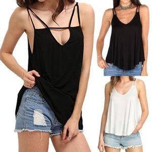 Tanques Moda Womens Camis T Top Verão Vest Cortar Tops Ladies Casual Ruffles mangas soltas Bralette bustier Bra Vest Camis