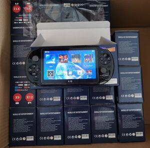 """5.1 """"컬러 화면 지원 TF 카드 32기가바이트 MP3의 MP4 플레이어 12PCS DHL과 X12 핸드 헬드 게임 플레이어 8기가바이트 메모리 휴대용 비디오 게임 콘솔"""