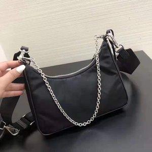 Bolsas de desenhista de luxo Nylon Waistsbag Bolsa de peito de peito de tecido bolsas bolsas de carteira de carteira de carteira Saco de mensageiro Crossbody 23cm bolsa de ombro