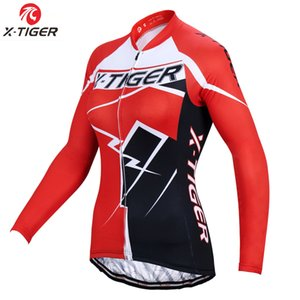 X-Tiger Pro Woman Winter Thermal Fleece Cycling Jersey Long Sleeve Mountain bike Cycling Jerseys Maillot Ropa Ciclismo Invierno