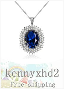 New European and American oval zircon necklace temperament goddess personality pendant high end jewelry women's Necklace