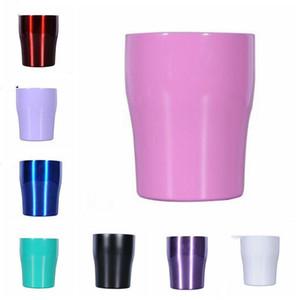 10oz Modern Kavisli Tumbler Mini içme vakumlu kapak şarap mandallarla birlikte paslanmaz çelik çocuklar fincan 10oz kupa yalıtımlı LXL759-1