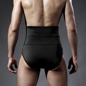 Yüksek bel zayıflama iç çamaşırı erkek undershirts pamuk sıkı Erkekler İnce Shapewear Kontrol Bel eğitmen karın adam iç çamaşırı