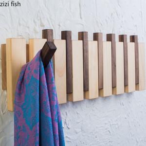 수제 천연 나무 벽 옷걸이 코트 랙 옷을 옷걸이 미국 가정의 벽 유형 피아노 행 후크 저장 행거 T200415 후크