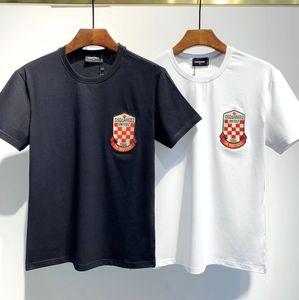 Hot Sell Classic ICON Letter Unisex T Shirt #009 Europe Famous Maple leaf Summer Short sleeve Men Women Hip Hop Tees C5'D2 Medusa