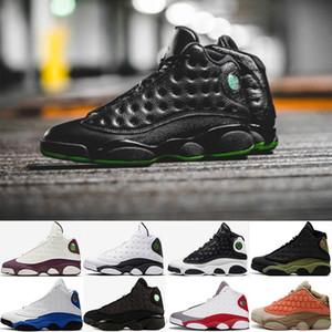 Ucuz XIII 13 13s CP3 Basketbol ayakkabı erkekler kadınlar DMP Spor Ayakkabılar Retro Hiper Kraliyet Fildişi Kara Kedi Cap Önlük J13 çakmaktaşı