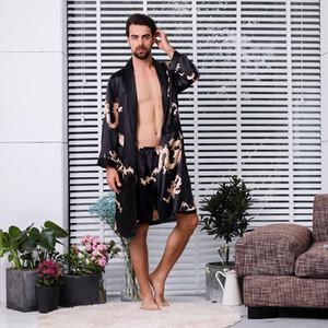 2019 mais novo Suit Moda Masculina de duas peças sono projeto original Verão solto macio e confortável Sets Banho Pijamas Lazer Robe