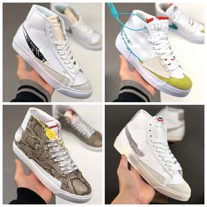 Novo Blazer Meados Borda Hack Pack Aqua Soulland Fri.dad 03 Snakeskin Esboço Mens Sneakers Sapatos Casuais Treinador Skate Blazers Shoe Tele 44
