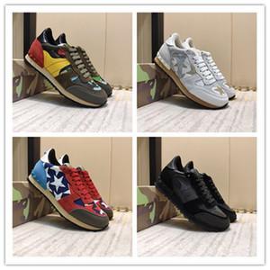 2020 de lujo señal de diseño Trainers mujeres hombres Stud zapatos casuales de moda CamouflageSneakers nuevo Color varios estilos CasualShoes sizeus5.5-12