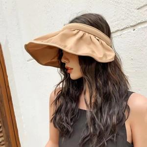 Chapeau de dame Corée porte est bouchon coquille pliage chapeau pare-soleil