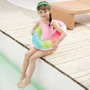 Kinder-Baby-Sommer-Strand Aufblasbarer Ring Schwimm Schwimmen-Ring-Wasserspielzeug Regenbogen-bunte Sicherheit Swimming Pool Ringe für River Beach
