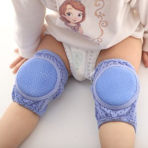 US Stock Summer Mesh Baby Knee Brace Elbow Breathable Baby Toddler Anti-fall Crawling Protective Gear Socks For 0-3 Year