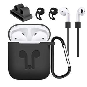 Funda protectora de silicona para la venta caliente Funda para audífono Funda protectora de audífono anti-pérdida de audífonos inalámbricos para Apple AirPods