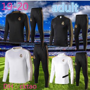 top 2019 2020 tracksuit long sleeve Real Madrid om Marseille training suit Football jacket train pants kit uniform chandal