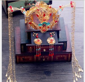 Headwear antigo vestido Phoenix crown step shake simples estilo Chinês borla Wedding Toast dress hairdress