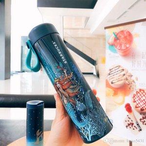 Starbucks 18th yıldönümü Yıldızlı Gökyüzü Mermaid tanrıça paslanmaz çelik vakum bardak dışarı dooor spor kahve fincan bardak 473 ml