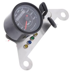 Moto LED Digital del tachimetro tachimetro Gauge Girare High Beam