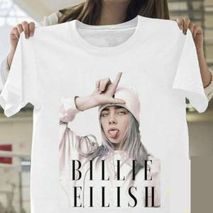 Billie Eilish T shirt Billie Eilish Fãs Branco Cotton Men S-3XL Fornecedor Hot T-shirt de venda de algodão Top Tee Plus Size