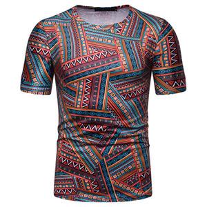 Moda camisas de T Para Homens 2019 verão 3D Impresso Nova Chegada de Manga Curta Estrela Camisetas Verão Pop Tripulação Pescoço Roupas Tees