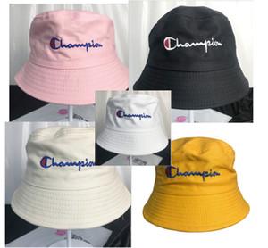 Champion Bucket Hat Letters Sommerhut Fisherman Hats Damen Herren hot ins Sonnenschutz Lässige Soft Floppy Hat 6 Color B73001