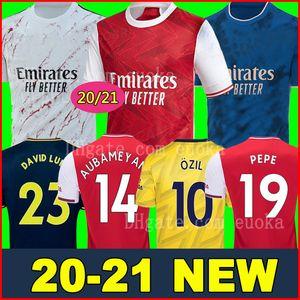 maillots de football Arsenal soccer jersey football shirt 20 21 PEPE AUBAMEYANG Lacazette 2020 2021 Xhaka uniformes chemise OZil kit de football de troisième maillot de foot de la