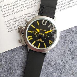 Brand New Automatic Mechanical Men's U CHRONOMETER U1001 water Resistant Watch Multi-colors Big Dial Boat Watch Rubber Classic Round U