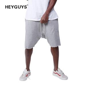 Heyguys 2018 Fashion High Street Männer Sweat Short Männer Casual Cool Blue Street Wear Hip Hop Neues Design Y19050702