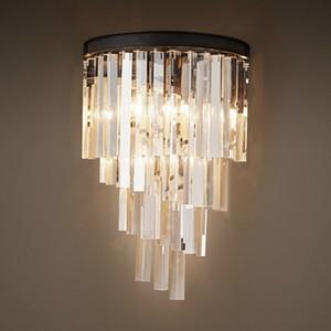 lámpara de pared de cristal corredor de estudio dormitorio American Palace americana salón sencilla faro espejo porche escalera