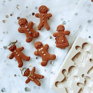 Xmas Gingerbread Man Style Christmas Silicone Mold Fondant Cake Mould Chockulate Candy Decoring Gumpaste Tools Confeitaria