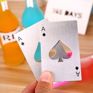 Card Poker criativo Garrafa de Cerveja Opener Bar Ferramentas frascos de soda abridor portáteis duráveis Preto Prata Espadas do cartão de jogo Opener DH1245 T03