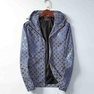 Lusso giacca designer 19MM degli uomini di High Street Medusa Zipper lettera della stampa di usura di alta qualità delle donne Tag Giacca con cappuccio a vento dei nuovi uomini di P