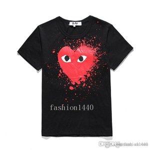 20 de lujo de la camiseta de la moda de alta calidad nueva de manga corta de impresión negro blanco de alta gama respirable ocasional ocio hip-hop