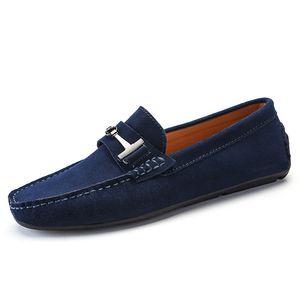 Мужчины корова замшевых туфель натуральной кожи Loafer большого размер водитель обувь нежный мужские путешествовать пешком ботинки вскользь комфорт дыхание обуви для мужчин zy516