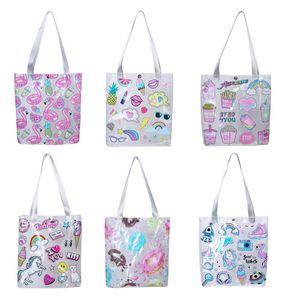 Summer beach bag transparent PVC shopping bag women shoulder bag large capacity travel storage bags for female waterproof swimming bags