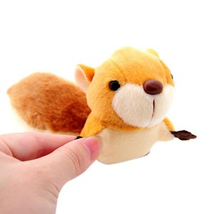 Little Squirrel Doll Plush Toys Stuffed Mini Metal Keychain Pendant Oversized Tail Shape Decor for Home Car Bag Party