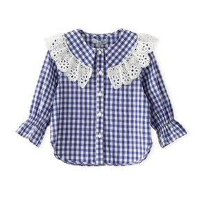 5pcs lot Baby girls shirts kids children clothing long sleeve Striped plaid tops girl Blouse shirt 3-8T sylvia 594621343068