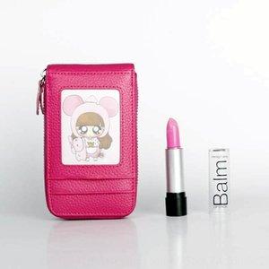 Cowhide cosmetic small portable Mini Lady Korean lipstick storage case case Lipstick cigarette box box bag cigarette bag