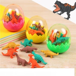 Студенты животных ластики для малыша стационарный подарок новинка динозавр яйцо карандаш резиновый ластик отличный подарок бесплатная доставка